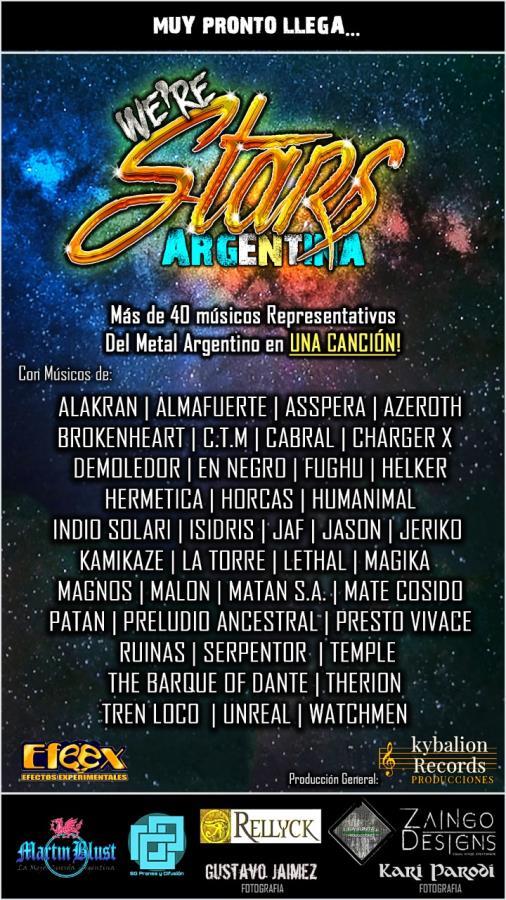 """Llega """"We're Stars Argentina"""" con más de 40 músicos en una misma canción"""
