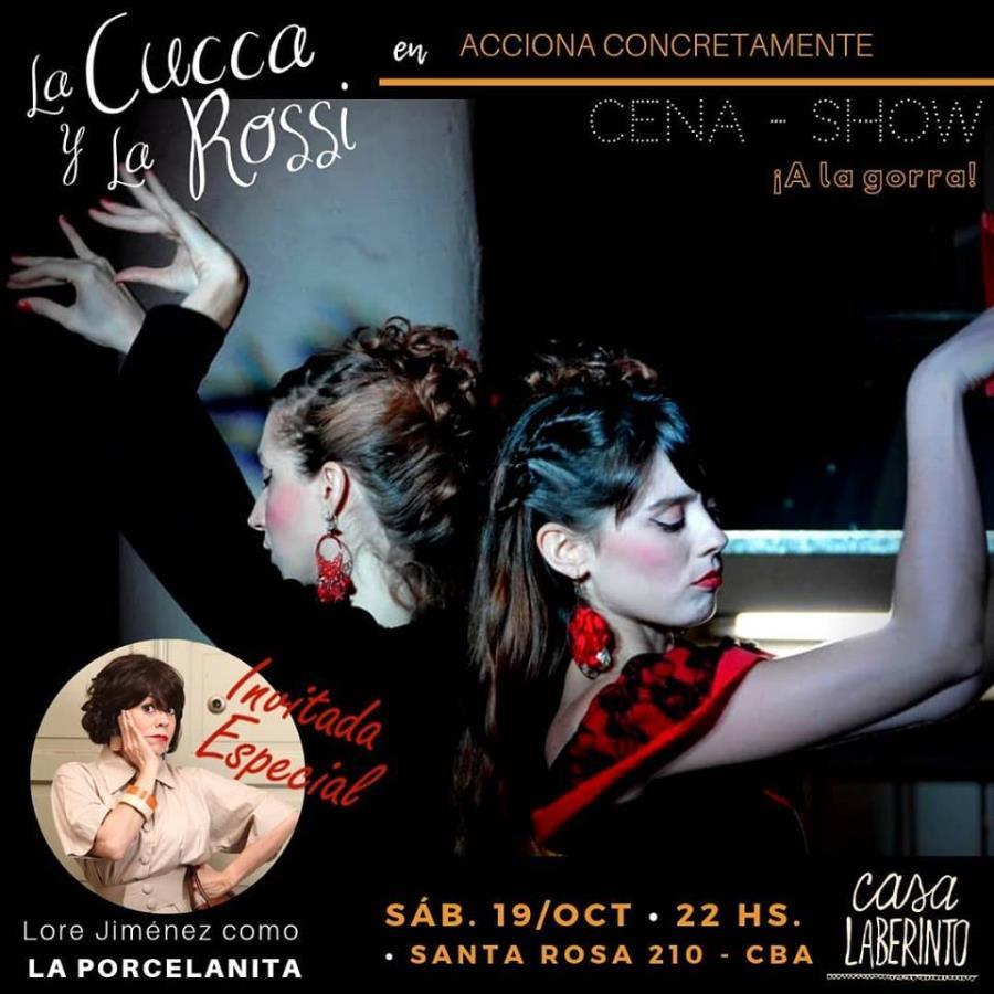 """La Cucca y la Rossi junto a """"Lore Jiménez"""" en Casa Laberinto"""