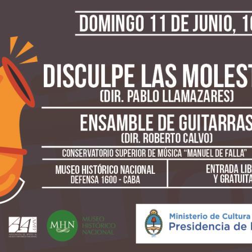 """Concierto del quinteto de bronces """"Disculpe las Molestias Brass Band""""."""