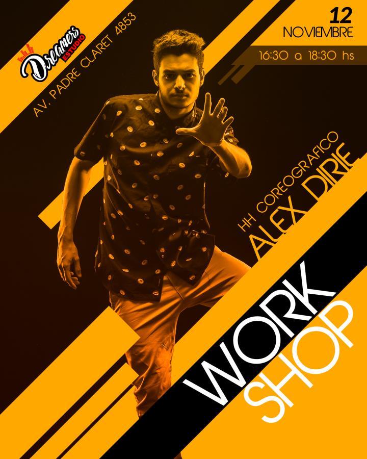 Workshop HIP HOP coreografico con ALEX DIRIE