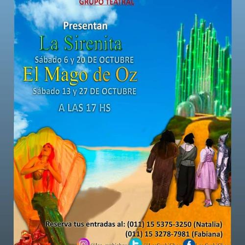 """Grupo teatral """"Los SushiChou"""" presentan LA SIRENITA y EL MAGO DE OZ"""