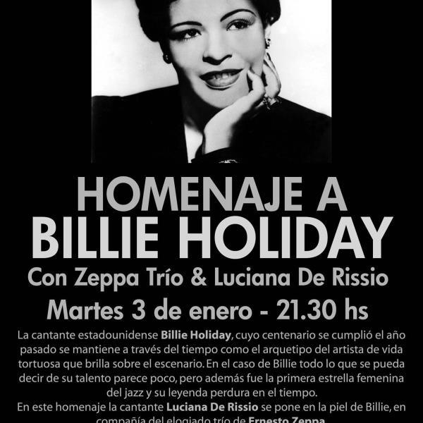 Zeppa Trío & Luciana De Rissio en Tributo a Billie Holiday