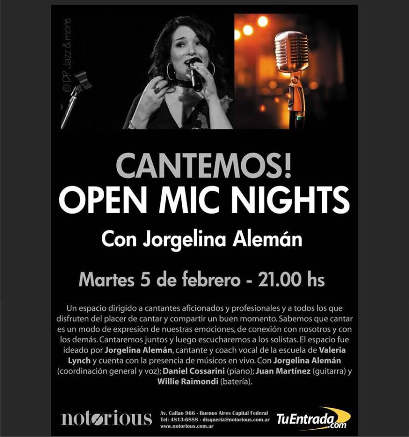 Open Mic Nights - Cantemos