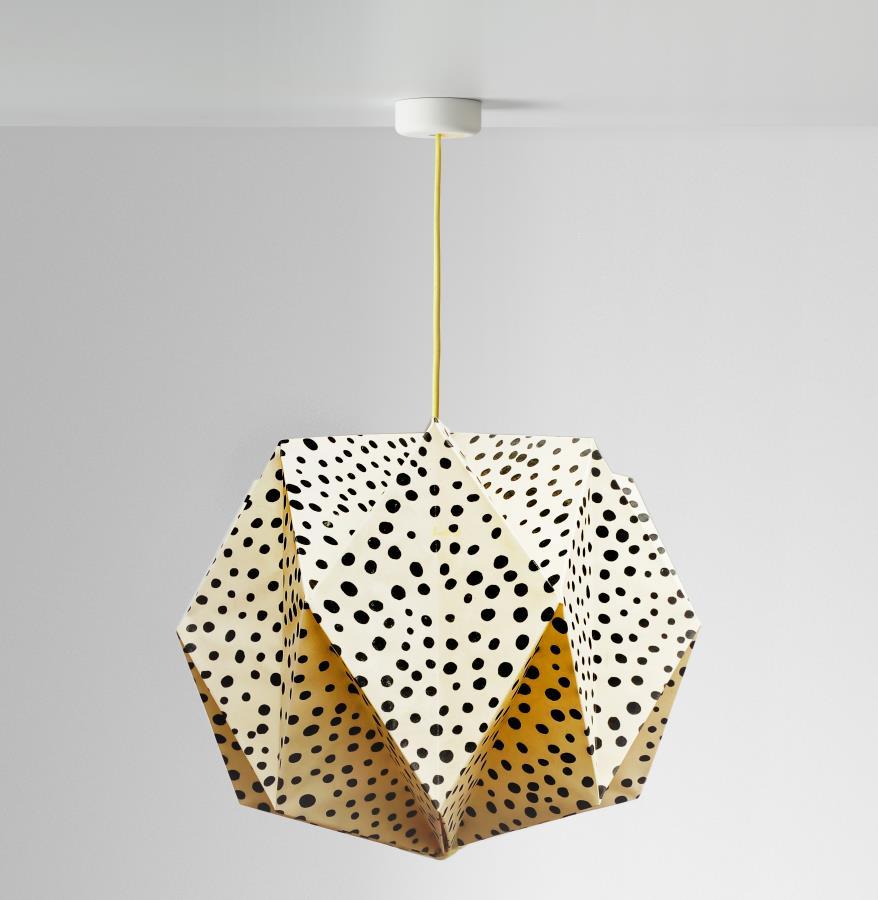 Lámpara Rose Origami De Tela 40cm X 35cm