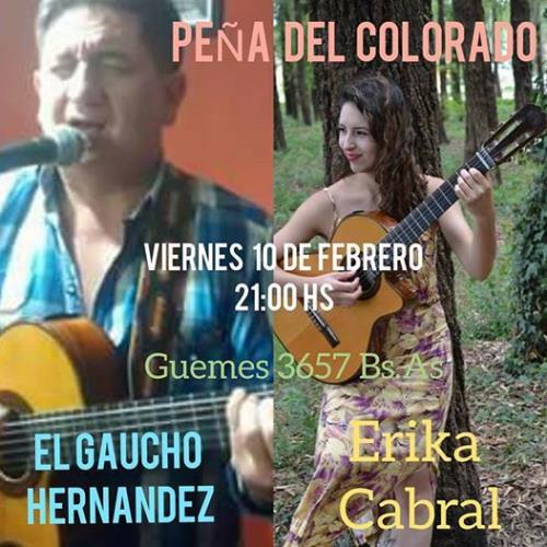 Erika Cabral en La Peña del Colorado