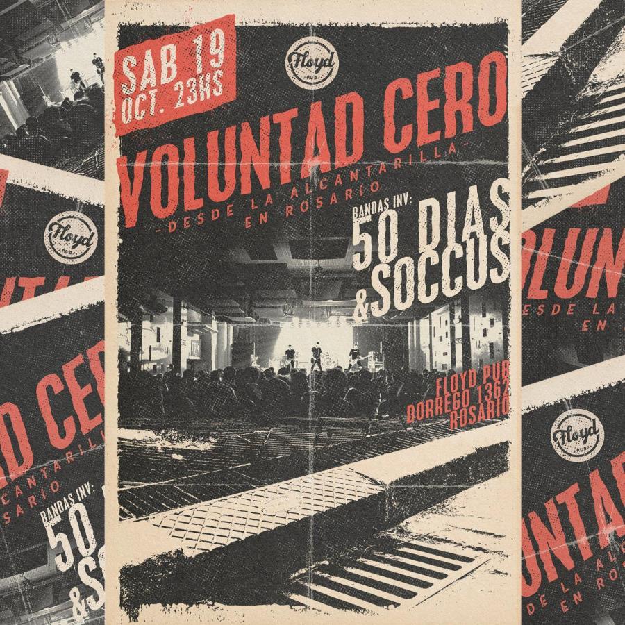 """¡Voluntad Cero presenta su nuevo disco """"Desde la alcantarilla"""" en Rosario!"""