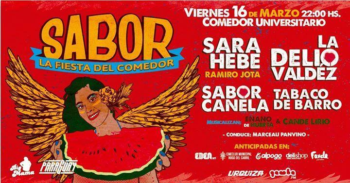 SABOR 2018! La Delio, Sara Hebe, Sabor Canela y Tabaco de Barro