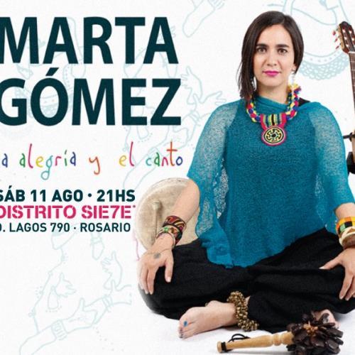 Marta Gómez en Rosario!   Sab 11 de Agosto