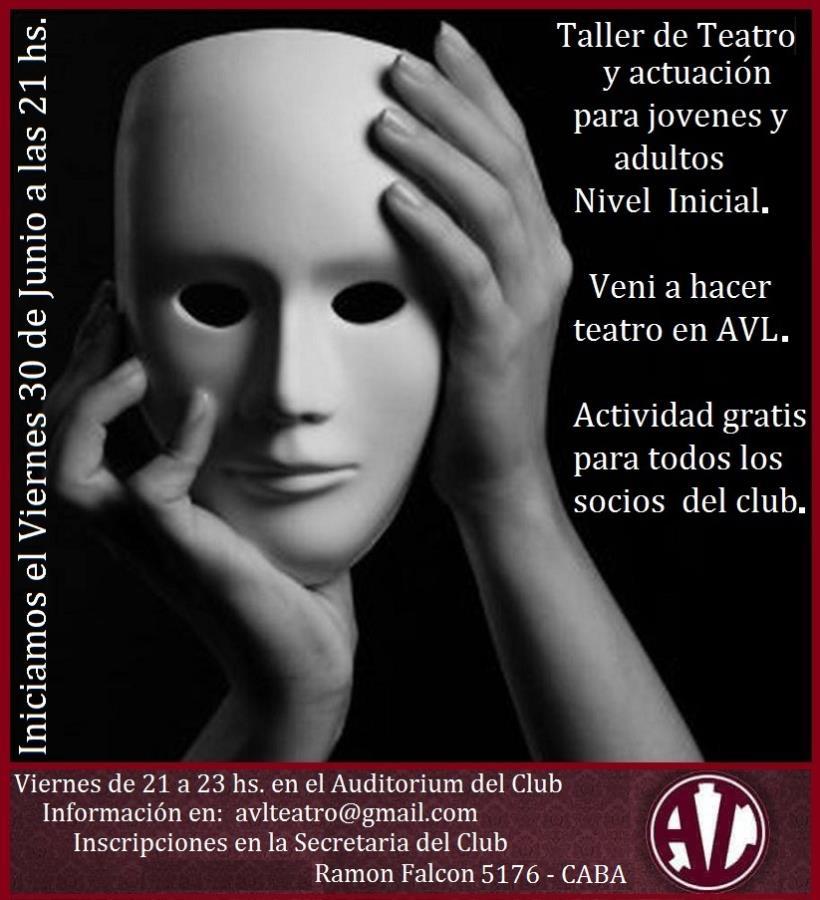 """""""Taller de Teatro para Jóvenes y Adultos"""" Nivel Inicial"""