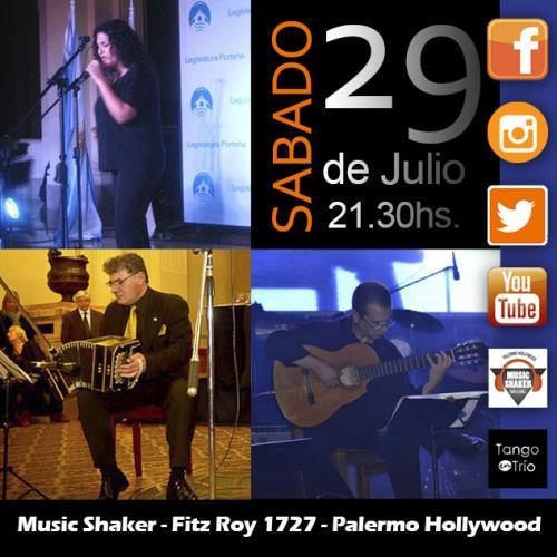 Tango en trio en Music Shaker