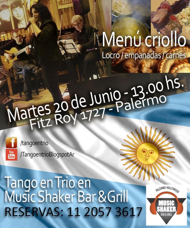 Tango en Trío en Music Shaker Bar & Grill