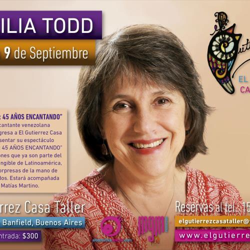 Cecilia Todd Festeja sus 45 años con la música