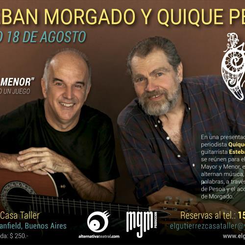 """Esteban Morgado y Quique Pesoa  presentan  """"Mayor y Menor"""", la música como un juego"""