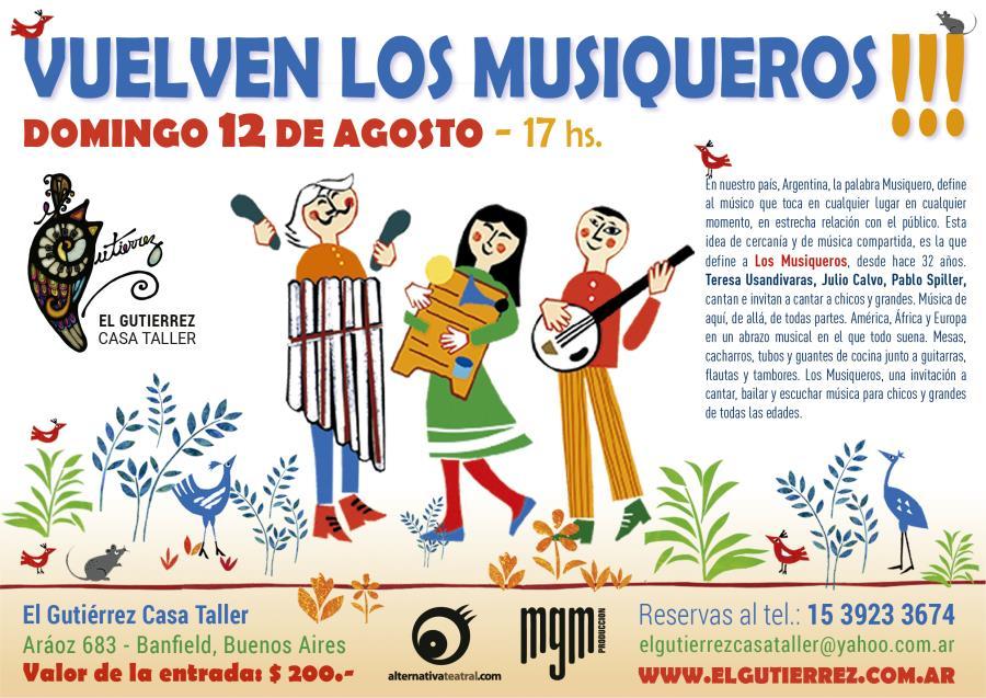 Los Musiqueros vuelven al Gutierrez