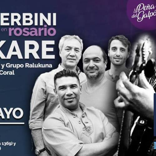 Emiliano Zerbini y el Cuerteto Karê en la peña del Galpón de la música