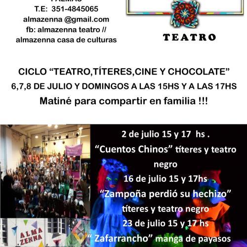 """Ciclo de """"Teatro, Títeres ,Cine y Chocolate"""""""