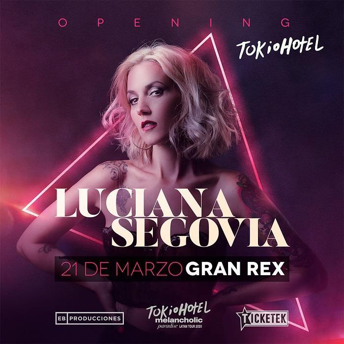 Luciana Segovia junto a Tokio Hotel en el Gran Rex