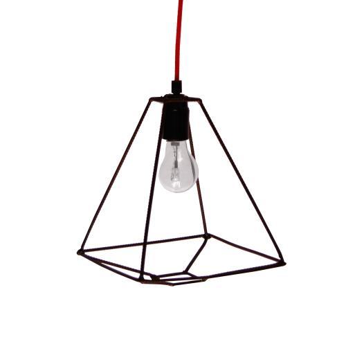 HOLUZ cuadrada | Lámpara de hierro reciclado