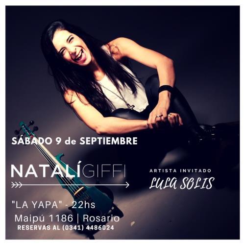 "NATALÍ GIFFI presenta ""OJALÁ"" su nuevo disco - Sábado 9 de septiembre"