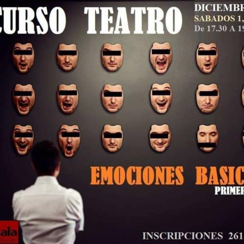Curso Teatro Diciembre Emociones Básicas