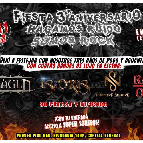 Fiesta HRSR: Hägen+Isidris+Nuestra Sangre+KnockOut