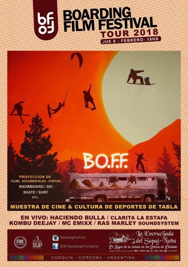 BOFF - Boarding Film Festival en La Encrucijada (Cosquín)