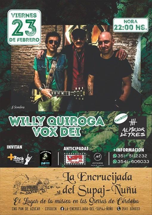 Vox Dei con Willy Quiroga en La Encrucijada