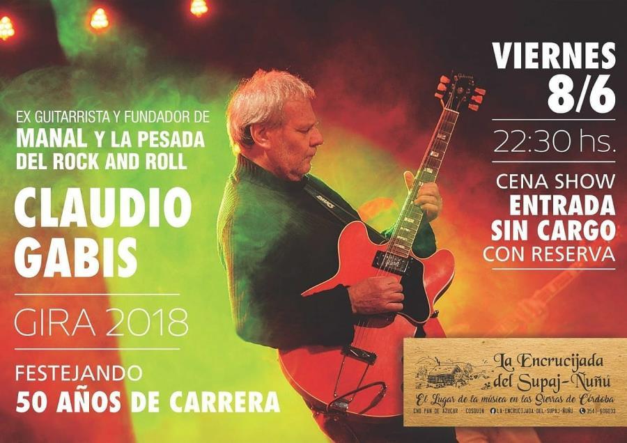 Comienzo de Junio en La Encrucijada (Cosquín) con Claudio Gabis (Manal) y Carlos Gardellini (Vox Dei)