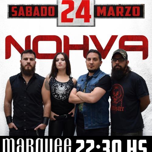 Nohva regresa con un show en Marqueé junto a Pájaro Negro