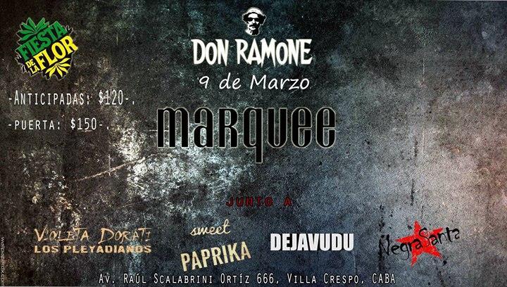 Don Ramone En Marquee Session Bar (organiza Fiesta De La Flor)