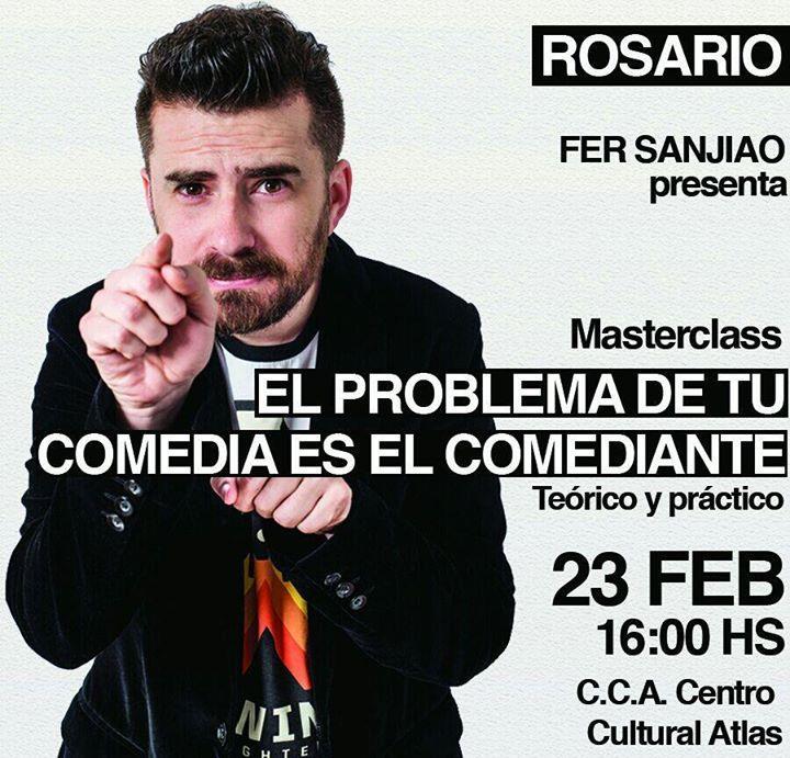 Fer Sanjiao presenta: Masterclass de Stand Up en Rosario