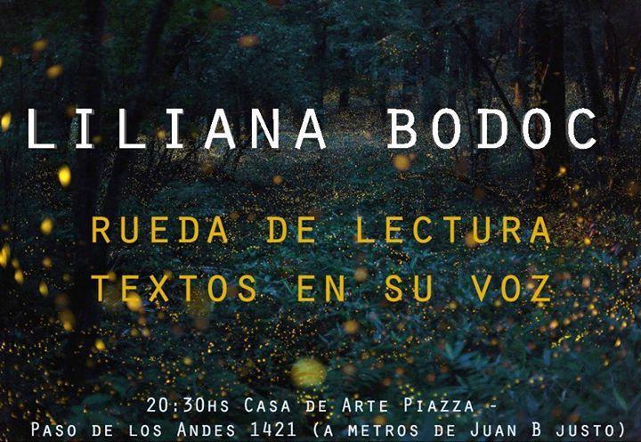 Rueda de lecturas de Lilliana Bodoc