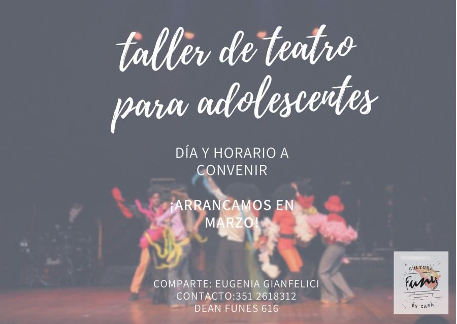TALLER DE TEATRO PARA ADOLESCENTES