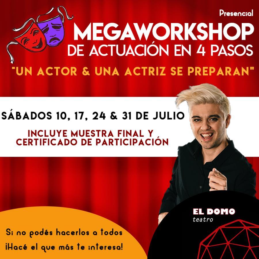 Megaworkshop de actuación en 4 pasos