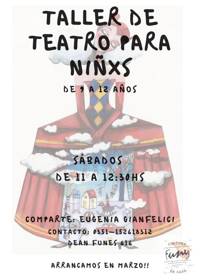 TALLER DE TEATRO PARA NIÑXS