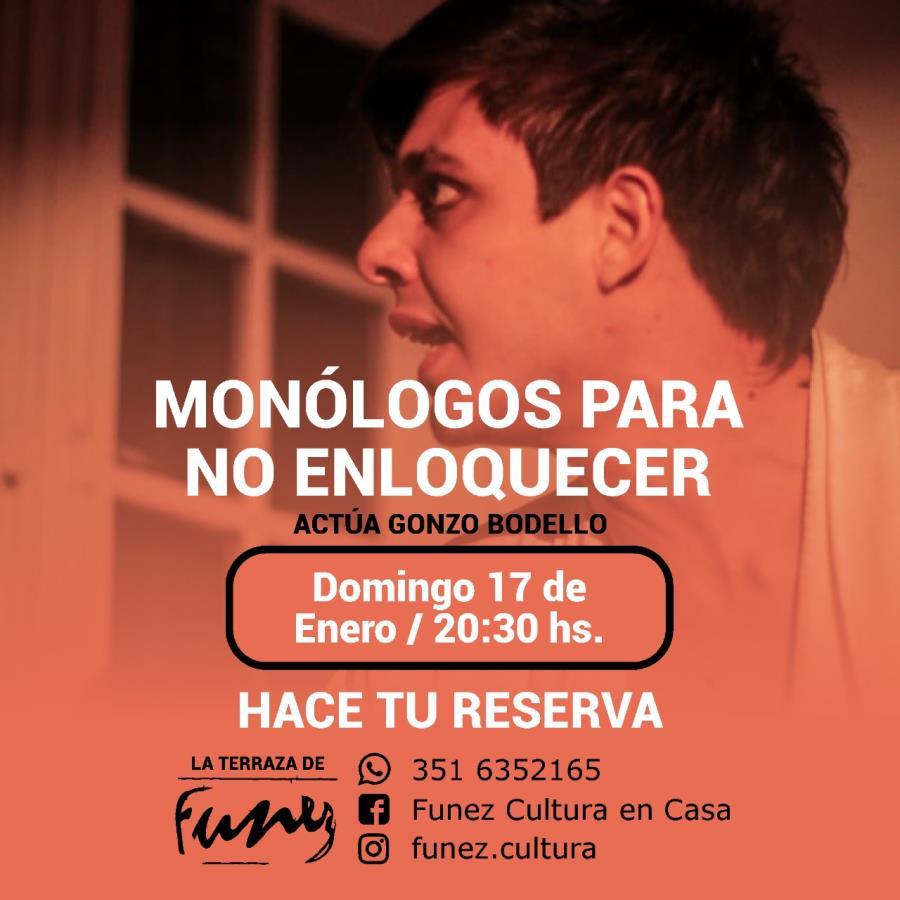 """""""Monólogos para no enloquecer"""" Cena Show en Funez Cultura"""