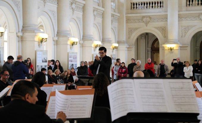 Presentación del Coro Municipal de Jóvenes junto a la Banda Sinfónica Municipal