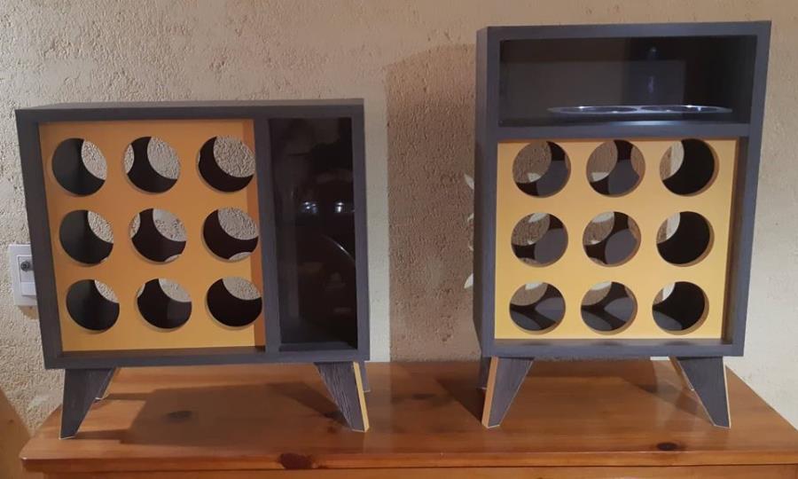 Mueble organizador de botellas, estilo vintage!