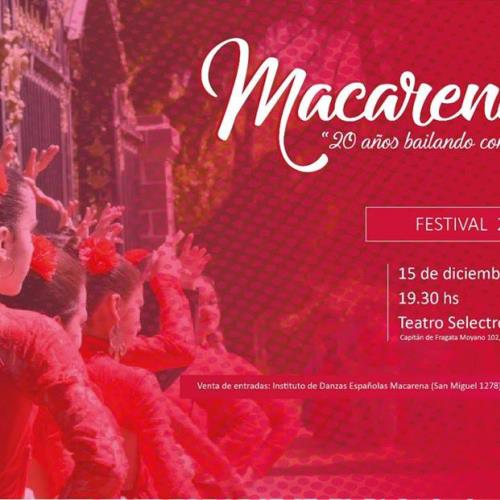 """Festival """" Macarena, 20 años bailando con el corazón"""""""