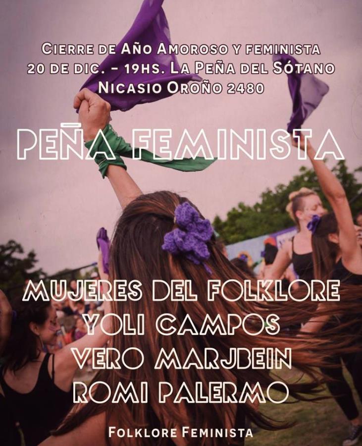 Peña del Sótano Feminista con Mujeres del Folklore