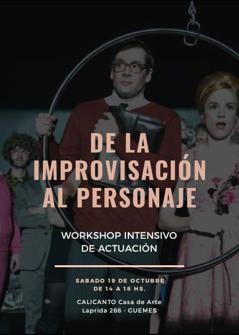 Workshop intensivo de improvisación y creación de personajes