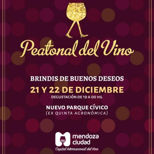 Peatonal del Vino, ¡brindis de buenos deseos!