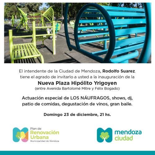 Gran Inauguración de la nueva Plaza Hipólito Yrigoyen