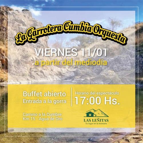 La Garrotera cumbia orquesta en Las Leñitas (Agua de Oro)