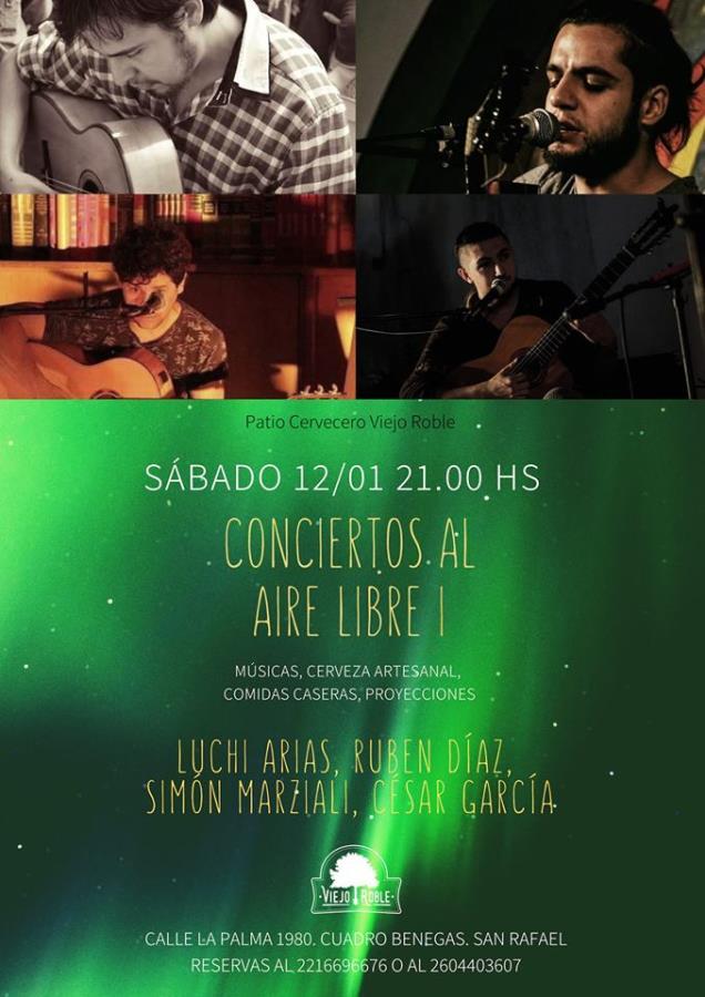 Conciertos al Aire Libre en Viejo Roble.Vol I: Música popular