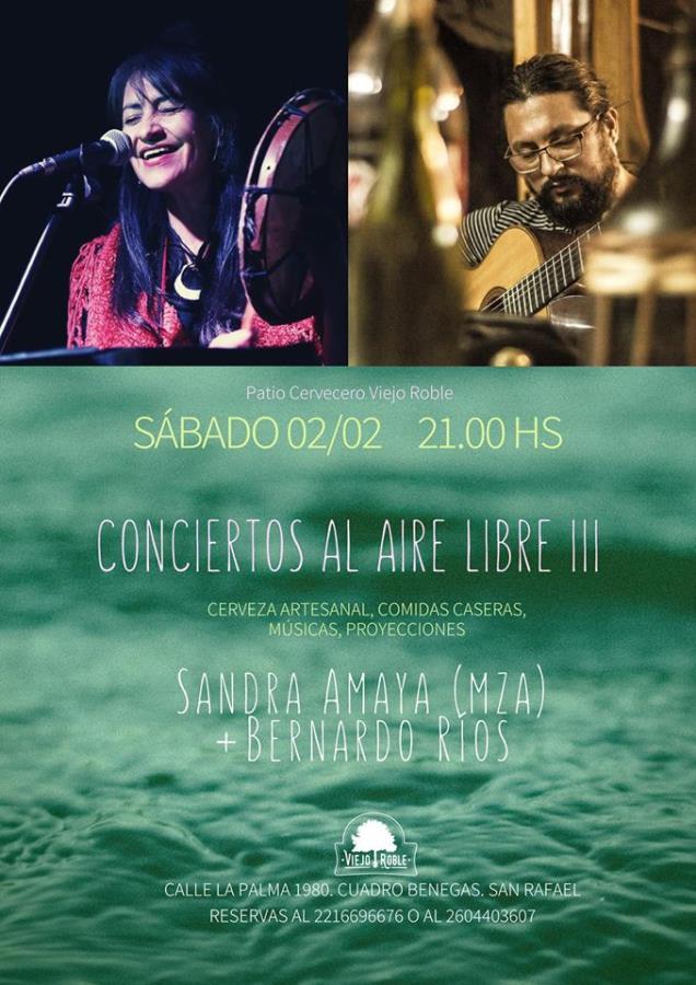 Conciertos al Aire Libre III: Sandra Amaya y Bernardo Ríos