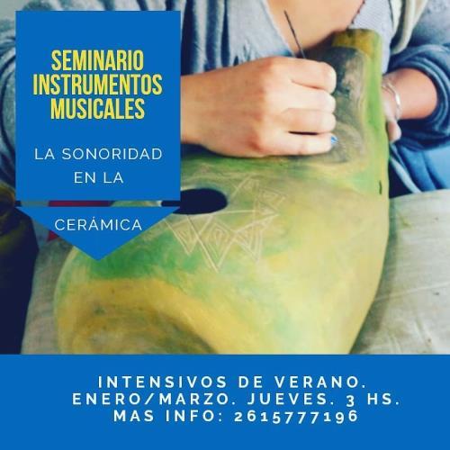 Seminario de  instrumentos musicales en cerámica