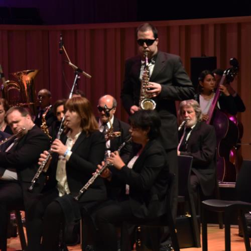 La Banda Sinfónica Nacional de Ciegos en Parque Centenario