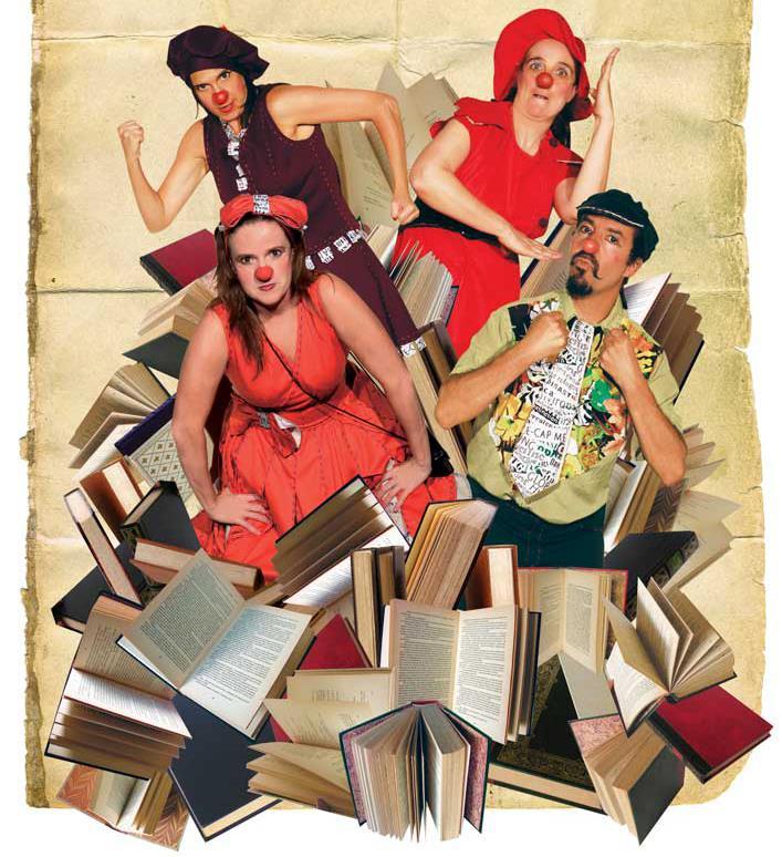 """""""Libros en la mira"""", de Tres Tigres Teatro"""