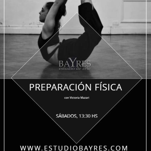 Preparación física y elongación para bailarines